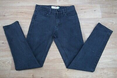 Next Slim Stretch Denim Straight Leg Men Boys Faded Black Jeans Size 28R W28 L30