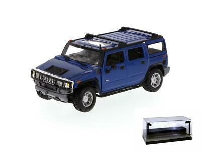 Diecast Car W/Led Case 2003 Hummer H2 Suv Maisto Special Edition 31231 1/27