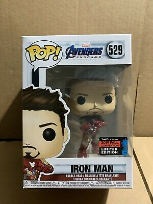 Funko Pop Marvel Tony Stark Iron Man with Gauntlet Avengers End Game 2019 NYCC