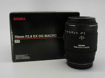 SIGMA LENS EX 70mm f/2.8 DG MACRO WITH LENS HOOD FOR CANON AF OBIETTIVO