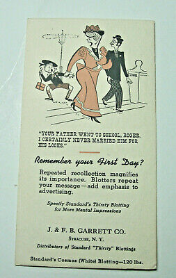 1940's era Humorous Blotter from Syracuse Paper Co.