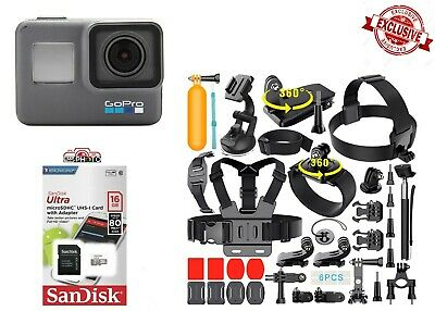 NEW GoPro HERO6~ Waterproof 4K Action Camera 12MP with ALL NEW Sports Bundle Kit