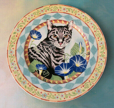 Andrea by Sadek Cat's Meow Collection Salad Desert Plate JAPAN