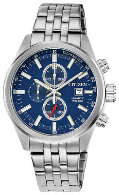 Citizen Men's Quartz Chronograph Blue Multi Dial 43mm Watch AN3620-51L