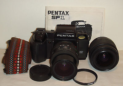 Pentax SF1 35mm SLR Film Camera with 2 lenses