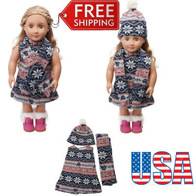 Cute Doll Clothes Set For 18'' American Girl Our Generation Doll Kids Present US