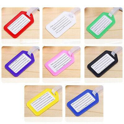 10X Travel Luggage Bag Tag Plastic Suitcase Baggage Office Name Address ID Good