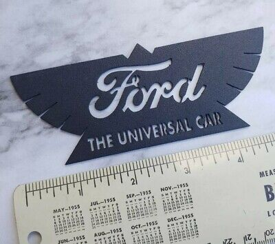 Model T Ford The Universal Car Tag printed using original letterpress cut