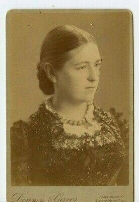 Vintage Cabinet Card Beautiful Young Effie Swan Downey & Carver Photo Newcastle