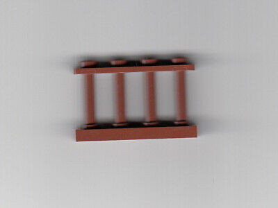 Fence 1x4x2 Spindled LEGO 6X //Six BROWN 2 Studs Part# 30055 not Reddish Brown