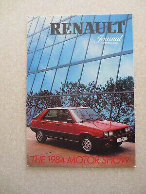1984 Renault cars Motor Show edition advertising booklet - UK