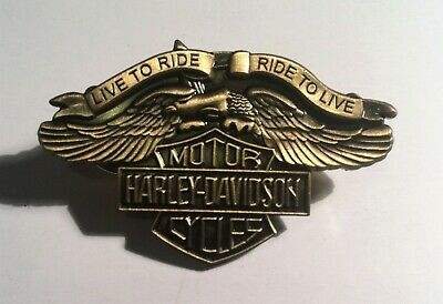 Harley Davidson Motor Cycles, Eagle Hat Pin, Lapel Pin, 2 clutches, Vintage Gift
