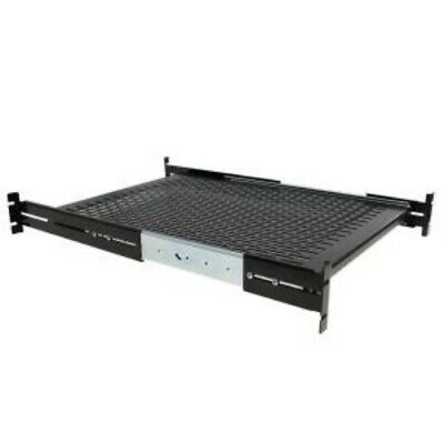 NEW STARTECH UNISLDSHF19 2U SLIDING VENTED RACK MOUNT SHELF.b.