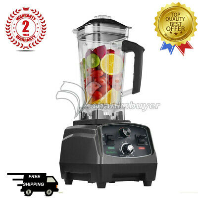 T5200 2L Heavy Duty Commercial Blender with Timer 2200W Fruit Variable Speeds TH