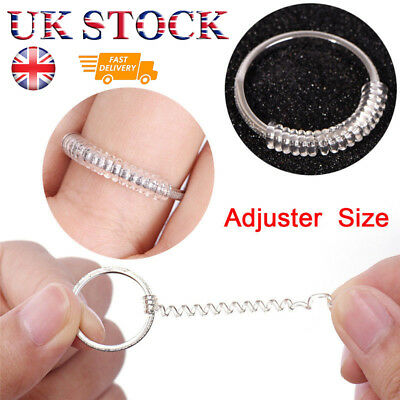 Ring Size Adjuster Resizer Reducer Snuggies Spiral Sizer One Size Fits All 6Pcs
