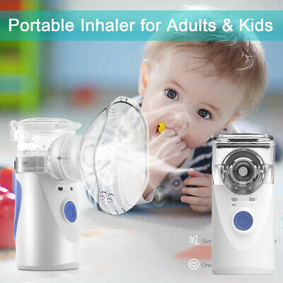 Compact Portable Nebulizer Battery Operated For Child Adult Travel Carry Bag