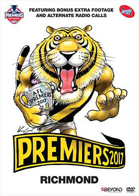 AFL Premiers 2017 - Richmond Tigers (DVD, 2017, R4) Grand Final NEW & SEALED