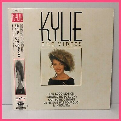 Kylie Minogue The Videos JAPANESE Laser Disc With OBI