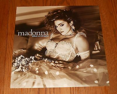 Madonna Like a Virgin Poster Flat Square 1984 Promo 12x12