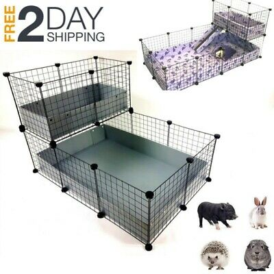 Pet Large Guinea Pig Giant Rabbit Cage Playpen Small Animal Folding Gate Fence