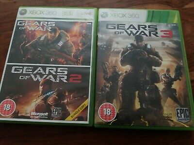 GOW Gears Of War Trilogy Collection 1 2 & 3 UK Xbox 360 + Instructions VGC