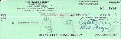 DEBRALEE SCOTT POLICE ACADEMY VINTAGE 1964 SIGNED CHECK ALSO BY ROBERT YOUNG d05