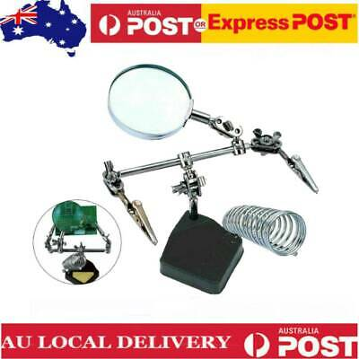 Helping Hand Magnifying Glass Soldering Iron Stand Lens Magnifier Tool Set Hot