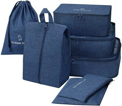 Packing Cubes 7 Set Travel Luggage Organizer Bags with Shoes bag and Washing Bag