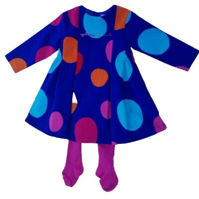 Agatha Ruiz De La Prada Baby Girl's Designer Spotty Dress & Tights Set 18 mths