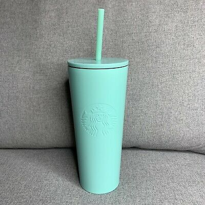 NEW Starbucks 2019 Summer Tiffany Blue Stainless Steel Tumbler Cold Cup 20 Oz