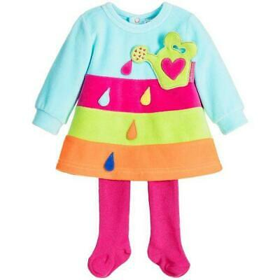 Agatha Ruiz De La Prada Baby Girl's Designer Velour Dress & Tights Set 6/12/18 m