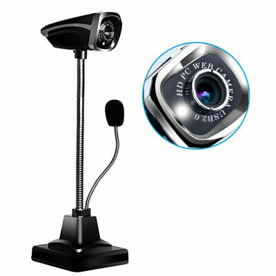 Full HD 1080P Web Cam Bendable 12MP Webcam Camera MIC Bendable Computer PC Table