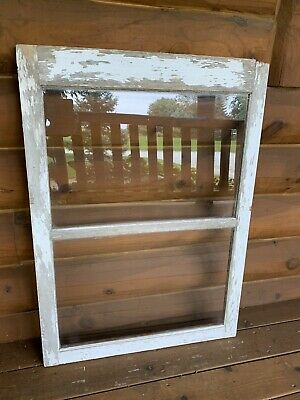 Antique Vintage Sash Wood Window 2 Pane Distressed