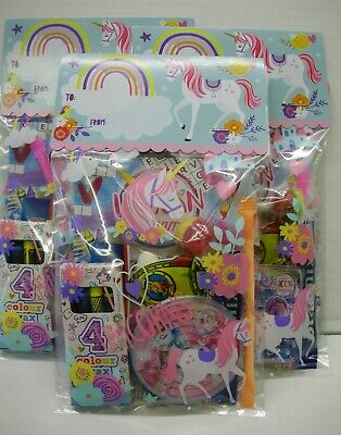 Unicorn Childrens Pre Filled Party Bags Girls Ready Made Kids Goody Loot Favours