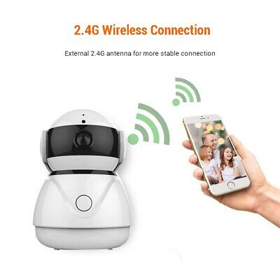 360° Panoramic View 1080P Wireless Wifi IP Camera Babt Monitor Motion Dection