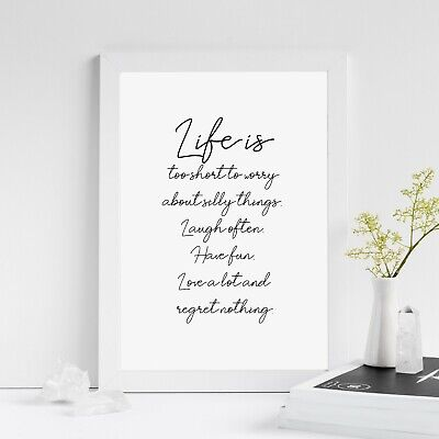 Life is Print | Inspirational Motivational Quote Poster Wall Art Gift Home Decor