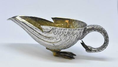Sterling AOM Tane Orfebres Mexican Signed Circa 1952 Swan Sauce Bowl