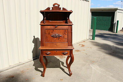 Superb Walnut Victorian Slant Front Desk with Cabriole Legs & Fancy Gallery Top
