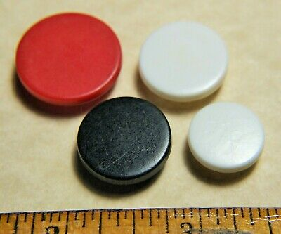 4 Vintage Colt Fire Arms Buttons Manhattan pattern red, white, black