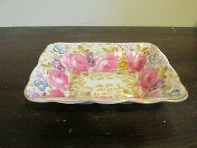 Vintage Royal Albert Serena Bone China England Trinket Dish Roses