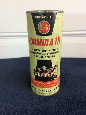 Whiz Formula 111 Cleaner Can Paper Label Rare Collectible Vintage Oil Can