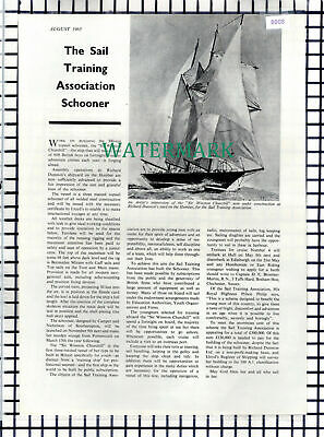 (8008) Sail Training Association Schooner Sir Winston Churchill  - 1965 Article