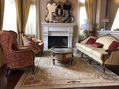Custom Antique Sofa, King And Queen Chair