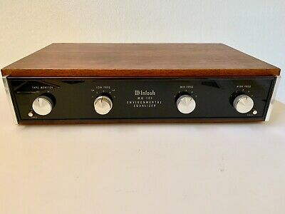 McIntosh MQ 101 with Wood Cabinet, Owner's Manual, Service Information