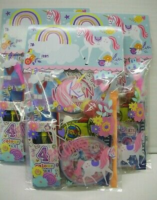 Pre Filled Unicorn Party Bags Girls Ready Made Gifts Kids Goody Loot Favours