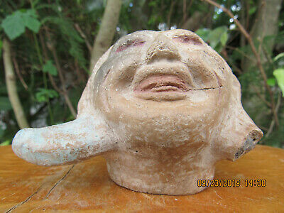 Authentic~Mayan Figure Incense Lid Pre-Columbian Artifact