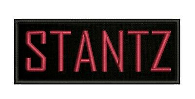 5 inch GHOSTBUSTERS STANTZ NAME TAG IRON ON PATCH