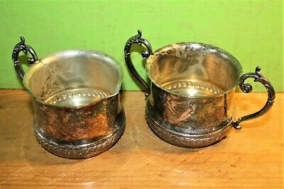 "Silver Plated Creamer & Sugar Set Stamped on bottom ""Silver on Copper"""