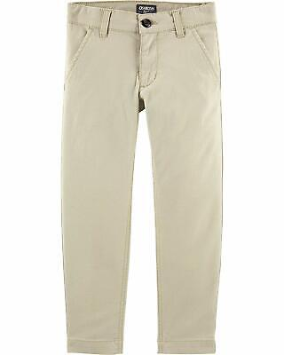 Osh Kosh Boys' Toddler Slim Stretch Twill Pant, Khaki, 4T