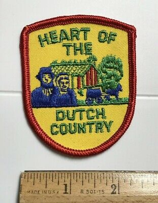 Heart of the Dutch Country Pennsylvania Amish Souvenir Embroidered Patch Badge